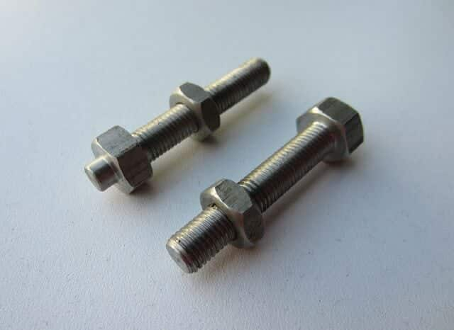 060650KSS Norton Commando rear wheel chain adjuster bolt set