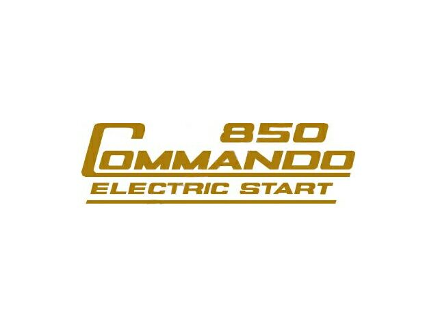 066388 Norton 850 Commando Electric Start transfer gold