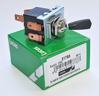 Lucas 3 position toggle switch