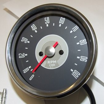Tachometer head, grey face 3:1, BSA