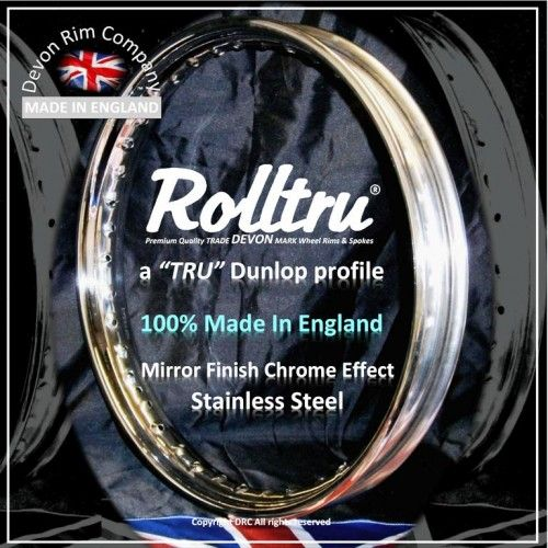 Devon mirror finish stainless steel rim