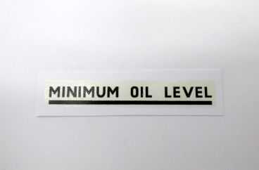 Triumph black minimum oil level transfer