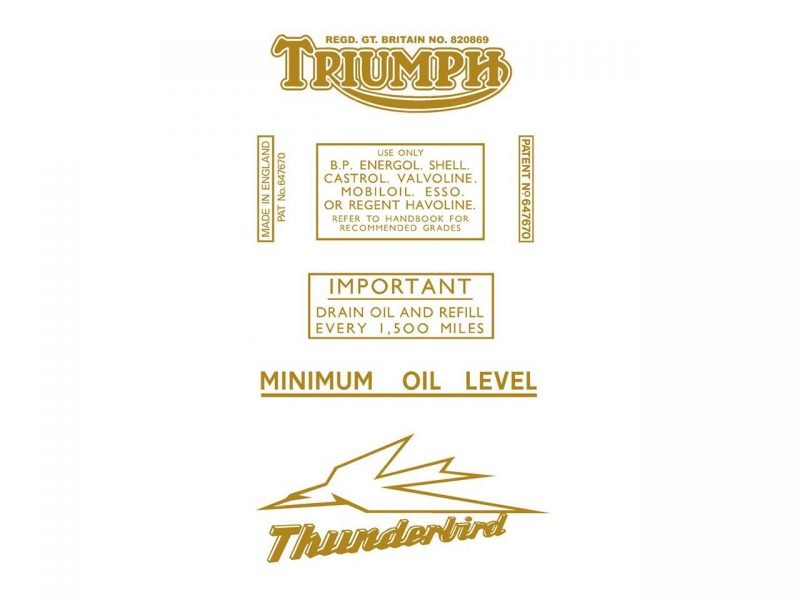 6517 Triumph Thunderbird transfer set